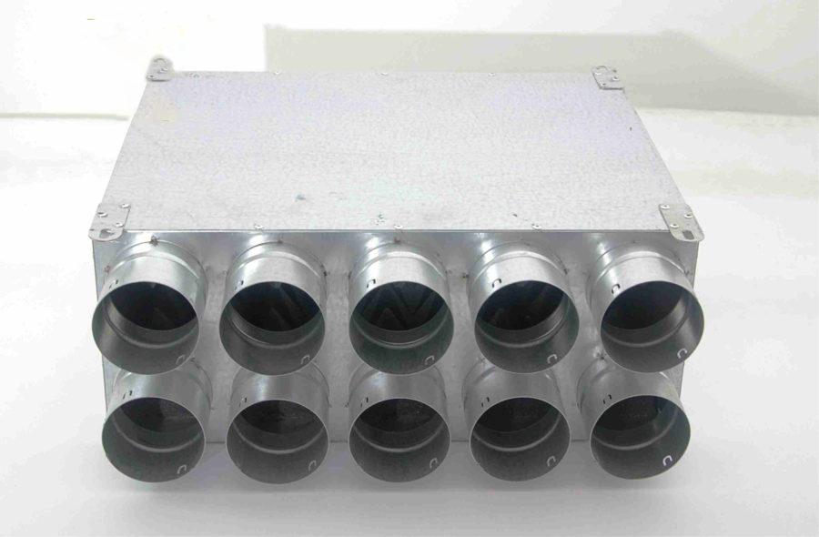 Akustinė dėžė su garso izoliacija d160, 10x75mm