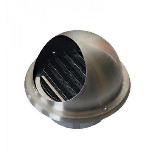 Padavimo/ištraukimo nerūdyjančio plieno grotelės su tinkleliu, d 160mm
